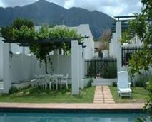 Sunny Lane has a beautiful pool, which provides welcome relief during the hot South African summer.