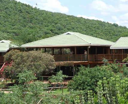 Enjoy beautiful views of the river gorge - all lodge rooms and communal areas of the pool, bar, braai lapa and decking area all overlook the Tamboti River Gorge.  Here you may be lucky enough to see baboons, bushbuck and warthogs plus many species of birds.