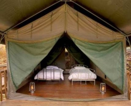 Tented accommodation.
