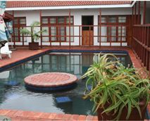 The pool is next to the braai area and Poolroom. Just step out from your poolside room and .....swim.<br />