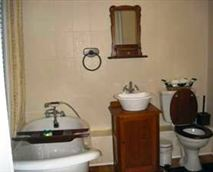 All our rooms have en-suite bathrooms with showers and some have baths as well. Our bathrooms although modern contribute to the turn of the century feeling of Jungnickel Guest house.