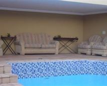 Pool and entertainment area