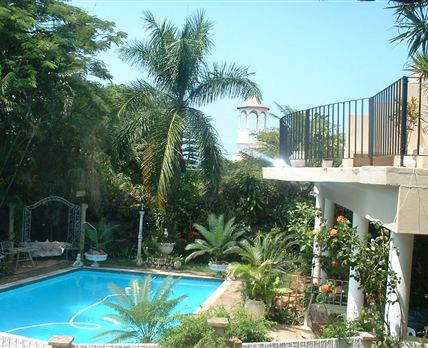 Very large pool set in tranquil garden, braai facilities available on request.