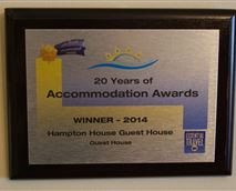 AA guest house of the year in SA 2014