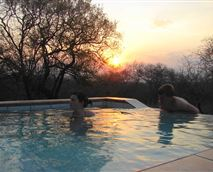 This is the best way to enjoy an African sunset