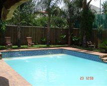 Cool down in a sparkling pool and relax in the warm jacuzzi is just the thing  for a tired body and mind.  Laze around the pool and get a stunning South African tan before returning to your country.