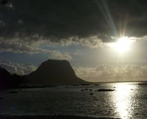 Sunset over the south west coast of Mauritius near Le Morne Mountain. © Cory reserved Mauriholidays