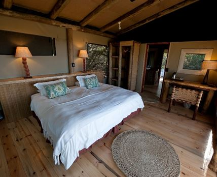 The spacious interior of one of the rooms at Rocktail Beach Camp. © Copyright - Wilderness Safaris. Our images are free for use by anyone as long as they are being used to promote Wilderness Safaris properties or safaris, and that credit is given to Wilderness Safaris