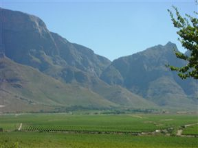 The Winelands Scenery Around Paarl Golf Club