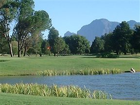 Paarl Golf Club View Of The 18Th Hole