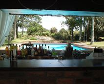 A view from the pub overlooking pool.