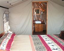 Tents are en-suite, with a shower or bath.